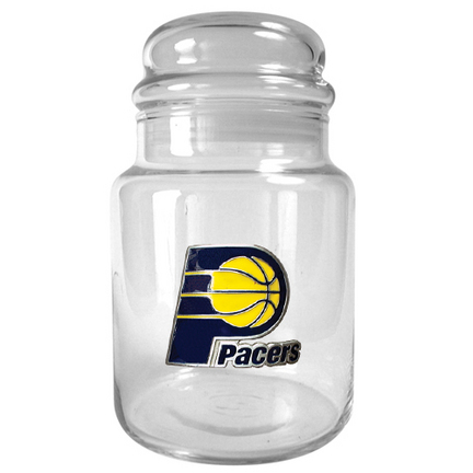 Indiana Pacers 31 oz Glass Candy Jar