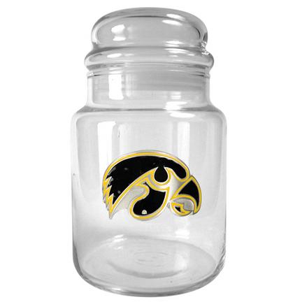 Iowa Hawkeyes 31 oz Glass Candy Jar