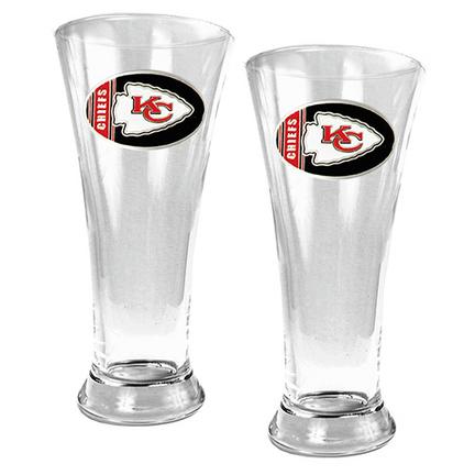 Kansas City Chiefs 2 Piece 19 oz Pilsner Glass Set