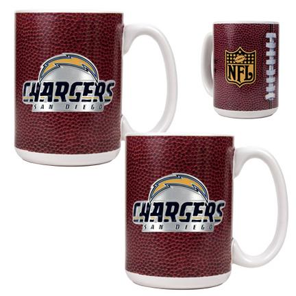 San Diego Chargers 2 Piece Gameball Ceramic Mug Set GAP-GMDGMD2024-7