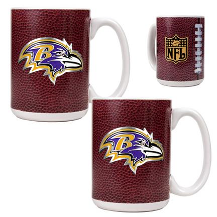 Baltimore Ravens 2 Piece Gameball Ceramic Mug Set