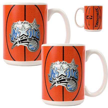 Orlando Magic 2 Piece Gameball Ceramic Mug Set