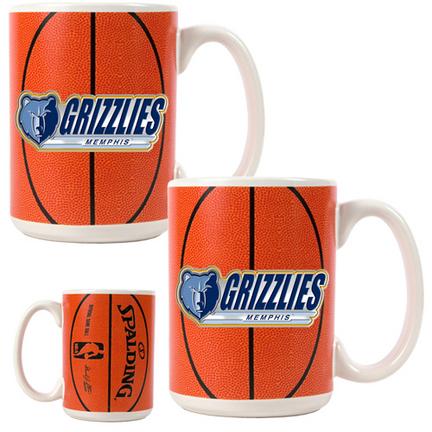 Memphis Grizzlies 2 Piece GameBall Coffee Mug Set (with