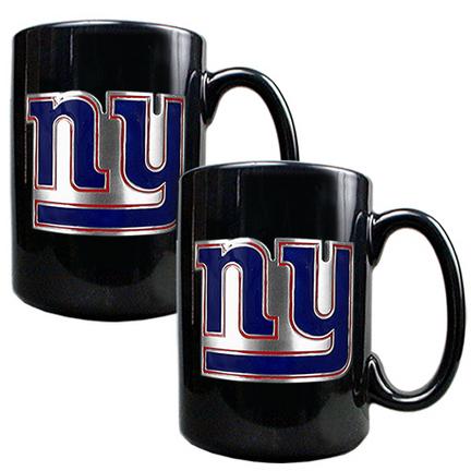 New York Giants 2 Piece Black Ceramic Mug Set GAP-GMGM2003-7