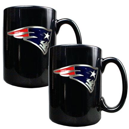 New England Patriots 2 Piece Black Ceramic Mug Set GAP-GMGM2018-7