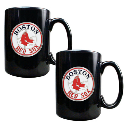 Boston Red Sox 2 Piece Black Ceramic Mug Set GAP-GMGM2103-4