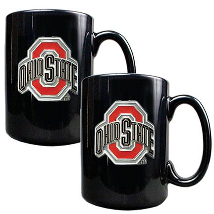 Ohio State Buckeyes 2 Piece Black Ceramic Mug Set GAP-GMGM2314