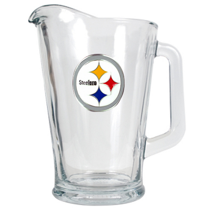 Image of Pittsburgh Steelers 60 oz. Glass Pitcher
