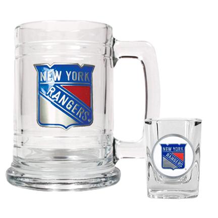New York Rangers Boilermaker Set (15 oz. Mug and 2 oz. Shot Glass) GAP-GTGSS010-4