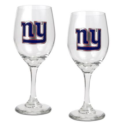 New York Giants 2 Piece Wine Glass Set GAP-GWGW2003-7
