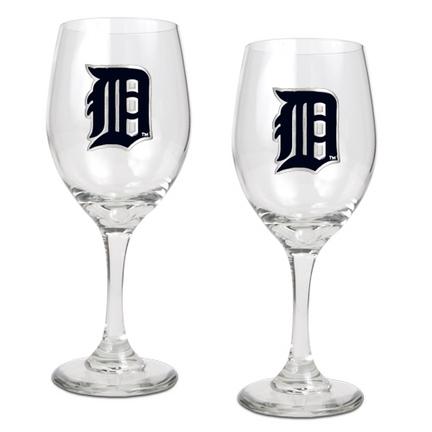 df90644beab0 Detroit Tigers 2 Piece Wine Glass Set
