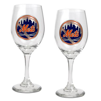 New York Mets 2 Piece Wine Glass Set GAP-GWGW2118-4