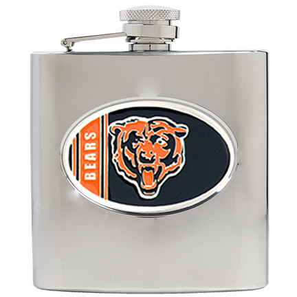 Image of Chicago Bears 6 oz. Stainless Steel Hip Flask