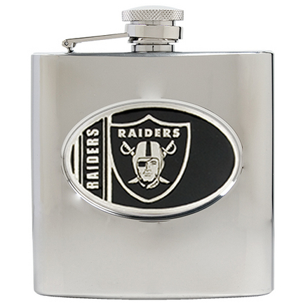 Image of Oakland Raiders 6 oz. Stainless Steel Hip Flask