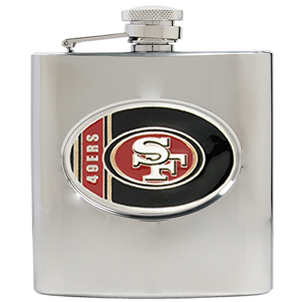 Image of San Francisco 49ers 6 oz. Stainless Steel Hip Flask