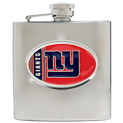 Image of New York Giants 6 oz. Stainless Steel Hip Flask