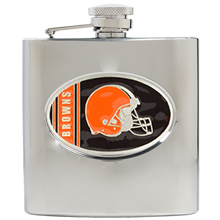 Image of Cleveland Browns 6 oz. Stainless Steel Hip Flask