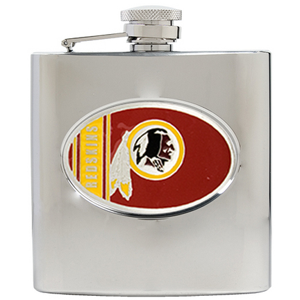 Image of Washington Redskins 6 oz. Stainless Steel Hip Flask