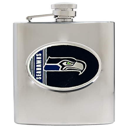 Image of Seattle Seahawks 6 oz. Stainless Steel Hip Flask