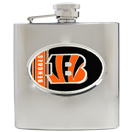 Image of Cincinnati Bengals 6 oz. Stainless Steel Hip Flask