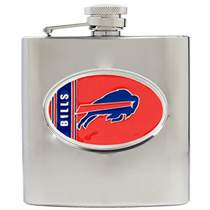 Image of Buffalo Bills 6 oz. Stainless Steel Hip Flask