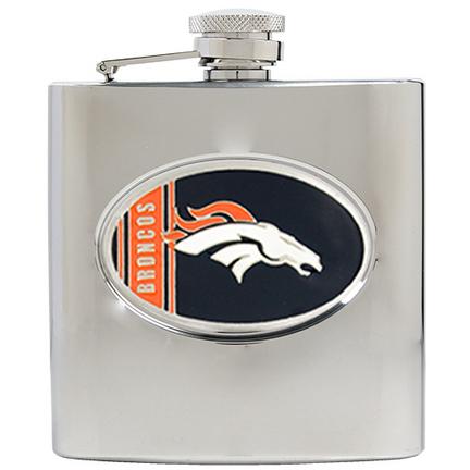 Denver Broncos 6 oz. Stainless Steel Hip Flask
