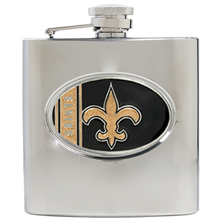 Image of New Orleans Saints 6 oz. Stainless Steel Hip Flask