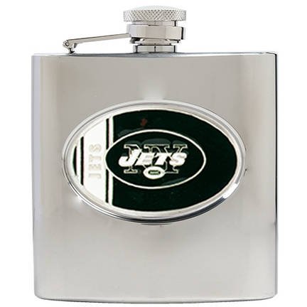 Image of New York Jets 6 oz. Stainless Steel Hip Flask