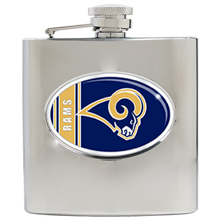 Image of St. Louis Rams 6 oz. Stainless Steel Hip Flask