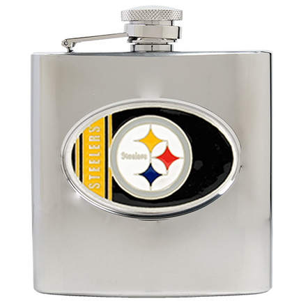 Image of Pittsburgh Steelers 6 oz. Stainless Steel Hip Flask