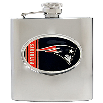 Image of New England Patriots 6 oz. Stainless Steel Hip Flask