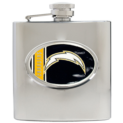 Image of San Diego Chargers 6 oz. Stainless Steel Hip Flask