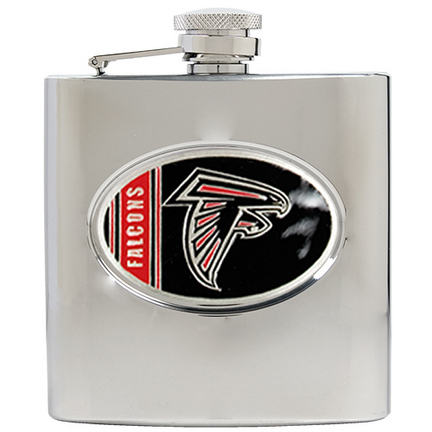 Image of Atlanta Falcons 6 oz. Stainless Steel Hip Flask
