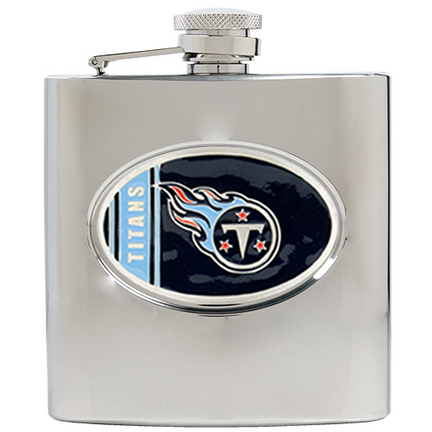 Image of Tennessee Titans 6 oz. Stainless Steel Hip Flask