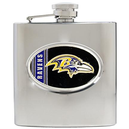 Image of Baltimore Ravens 6 oz. Stainless Steel Hip Flask