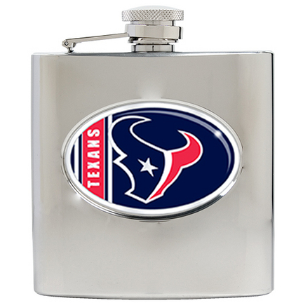 Image of Houston Texans 6 oz. Stainless Steel Hip Flask