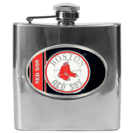 Image of Boston Red Sox 6 oz. Stainless Steel Hip Flask