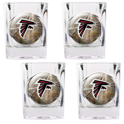 "Atlanta Falcons """"Open Field"""" 4 Piece Square Shot Glass Set"" GAP-RTGSSCPK2026-35"