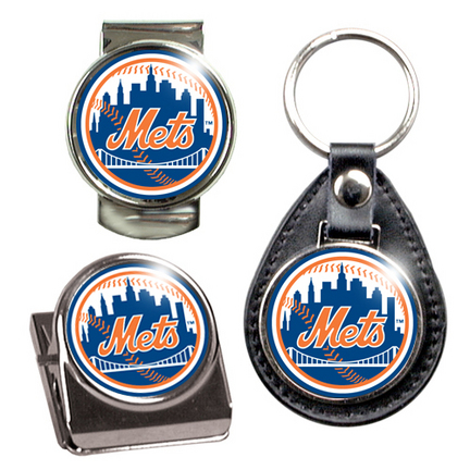 New York Mets Stocking Stuffer Set - Key Chain, Money Clip & Magnet Clip
