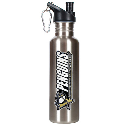 Pittsburgh Penguins 26 oz. Stainless Steel Water Bottle with Pop Up Spout