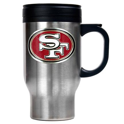 Image of San Francisco 49ers 16 oz. Stainless Steel Travel Mug