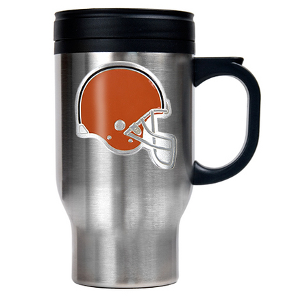 Image of Cleveland Browns 16 oz. Stainless Steel Travel Mug