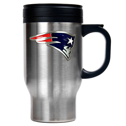 Image of New England Patriots 16 oz. Stainless Steel Travel Mug
