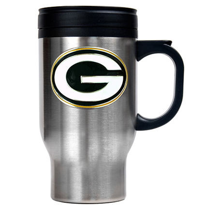 Image of Green Bay Packers 16 oz. Stainless Steel Travel Mug