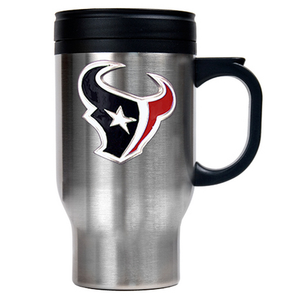 Image of Houston Texans 16 oz. Stainless Steel Travel Mug