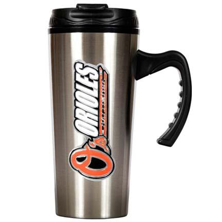Baltimore Orioles 16 oz. Stainless Steel Travel Mug