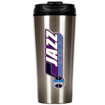 """Utah Jazz 16 oz. Stainless Steel Travel Tumbler (with """"""""Jazz"""""""")"""" GAP-TTS2226-14"""