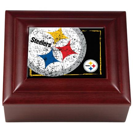 Pittsburgh Steelers Wood Keepsake Box GAP-WMBC2017