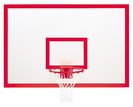 48 x 72 Rectangular Steel Basketball Backboard with Markings