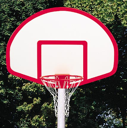 39 x 54 FanShaped Solid Fiberglass Basketball Backboard from Gared